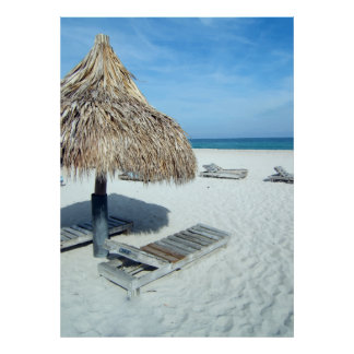 Bakgrund för bås för foto för strandCabanaLuau Poster
