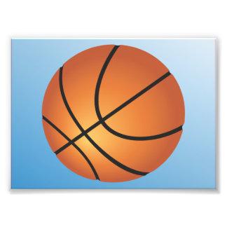 Bakgrund för basketsymbolsblått fototryck