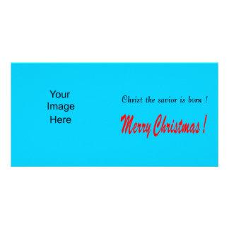 Bakgrund för blått för julfotokort fotokort