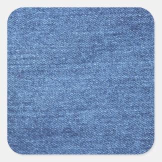 Bakgrund för blåttJean Denim Fyrkantigt Klistermärke