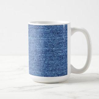 Bakgrund för blåttJean Denim Kaffemugg