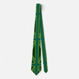 Bakgrund för flagga för grön jack för kricka slips