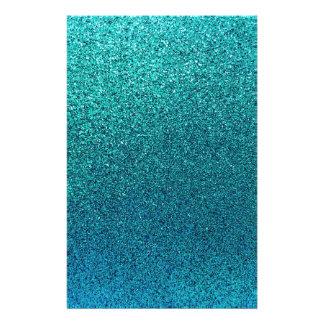 Bakgrund för glitter för blått för turkos för brevpapper