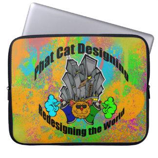 Bakgrund för grafitti för PCD-stadslogotyp Laptop Fodral