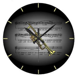 Bakgrund för grått för svart för ~ för stor klocka