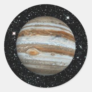 Bakgrund för PLANETJUPITER v.2 stjärna (det sol- Runt Klistermärke