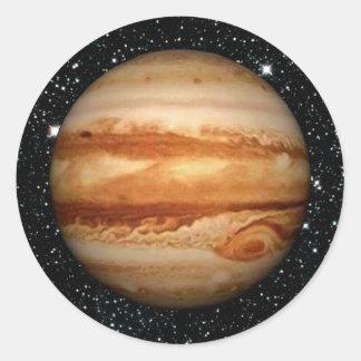 Bakgrund för PLANETJUPITER v.3 stjärna (det sol- Runt Klistermärke