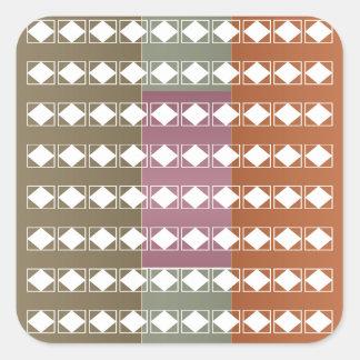 Bakgrund för strålpunkt för Aura n för Fyrkantigt Klistermärke