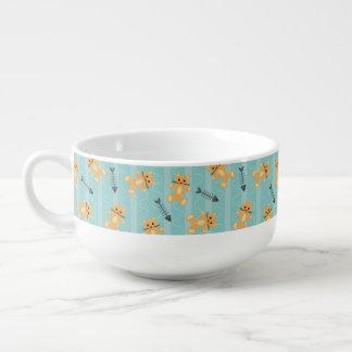 bakgrund med katter mugg för soppa