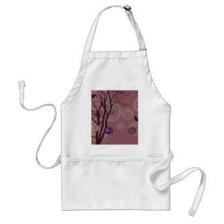 Bakgrund med träd, kråkor och abstraktinslag förkläde