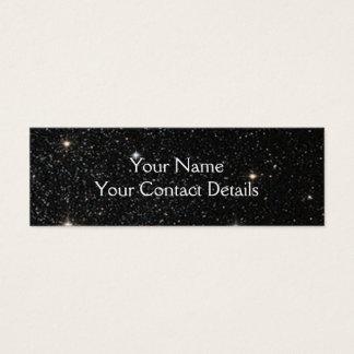 Bakgrund - natthimmel & stjärnor litet visitkort