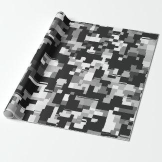 Bakgrund stojar i svart & vit presentpapper