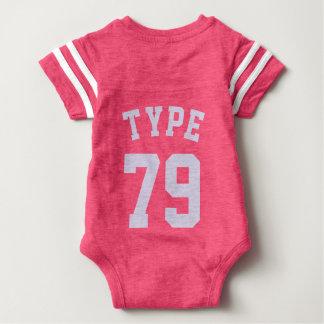 Bakrosor & ljusa lila sportar Jersey för baby | T-shirt