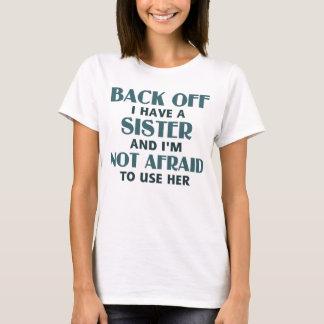 Baksida av har jag en syster (blått) t shirts