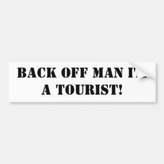 Baksida av man mig förmiddag en turist! bildekal