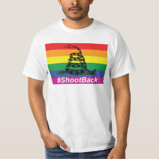 Baksida för for för flagga för gay prideGadsen Tee Shirt