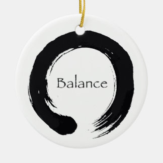 Balansera & den Enso prydnaden Julgransprydnad Keramik