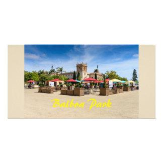 Balboaen parkerar San Diego Kalifornien Fotokort