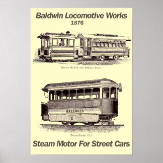 Baldwin ånga som är motorisk för affisch för