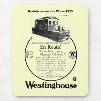 Baldwin-Westinghouse lokomotiv Mousepad 1923 Musmatta