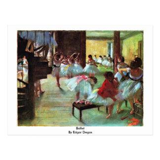 Balett av Edgar Degas Vykort