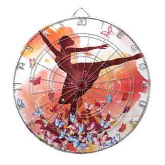 Balett för dansare för vintagevattenfärgBallerina Darttavla