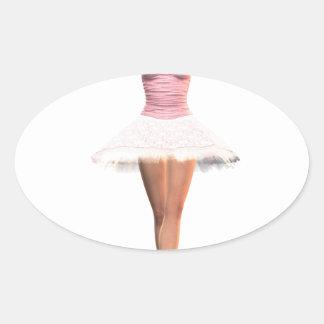 Balett för En Pointe Ovalt Klistermärke