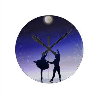 Balett i månsken tar tid på rund klocka
