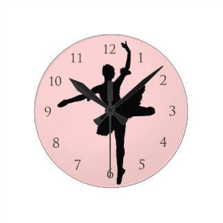 Balett med numrerar rund klocka