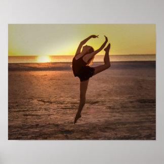 Balett på stranden poster