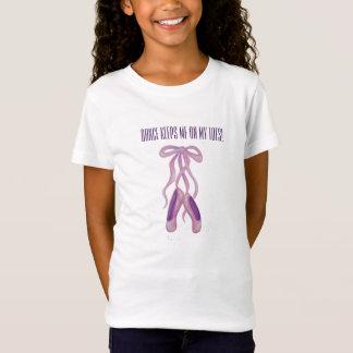 Balett skor flicka utslagsplatsskjortan t-shirt