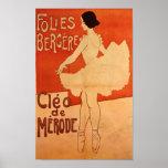 Balettdansör för dansBallerinaart nouveau Posters