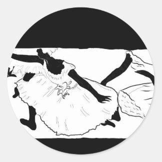Balettdansörer (Degas), Runt Klistermärke