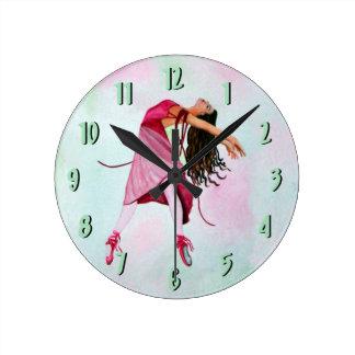 Baletten tar tid på ~-grönt rund klocka