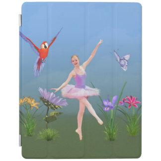 Balettfantasi, blommor, papegoja, fjäril iPad skydd