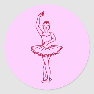 Balettfourthen placerar runt klistermärke