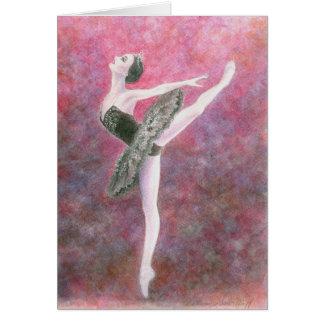 Baletthälsningkort - svart svan hälsningskort