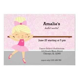 Baletthögläsning 12,7 X 17,8 Cm Inbjudningskort