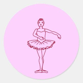 Balettthirden placerar runt klistermärke
