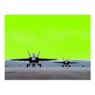 Bålgeting för toppen F-18 Vykort
