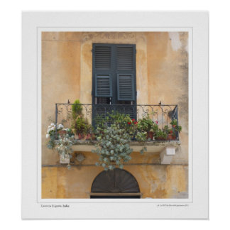 Balkong i Levanto Poster
