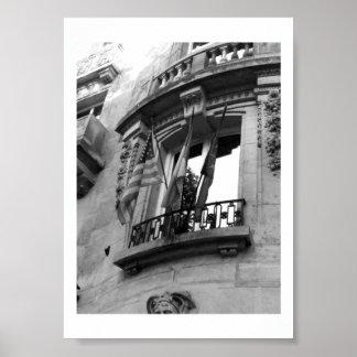 Balkong i Paris Poster