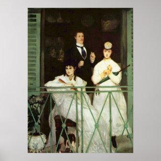 Balkongen - Edouard Manet Poster