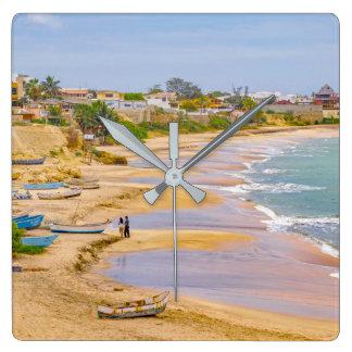 Ballenita strand Santa Elena Ecuador Fyrkantig Klocka
