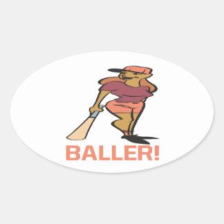 Baller Ovalt Klistermärke