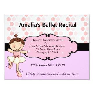 Ballerina 10,8 X 14 Cm Inbjudningskort
