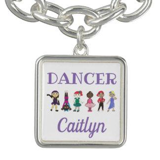 Ballerina för Jazz för klapp för balett för Armband