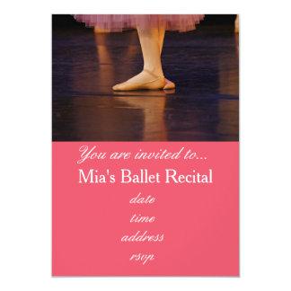 Ballerina för rosor för baletthögläsningkonsert 12,7 x 17,8 cm inbjudningskort