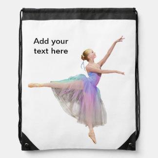 Ballerina i Arabesqueanpassadetext Gympapåse