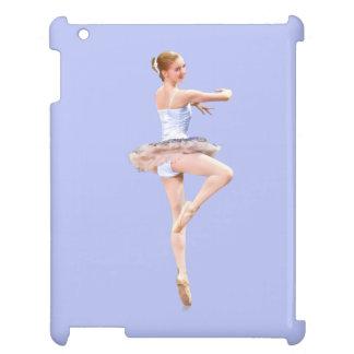 Ballerina i lilor och vit iPad mobil fodral